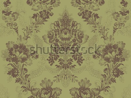 Victorian damask floral pattern, abstract flower rose fashion seamless, Stock photo © cosveta
