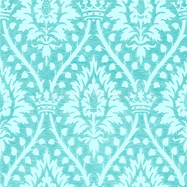 Abstract hand-drawn floral seamless pattern with crown, vintage Stock photo © cosveta