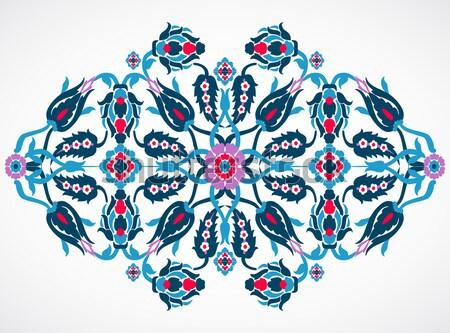 Arabesque vintage damask floral decoration lace print for design Stock photo © cosveta