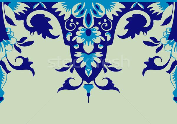 вектора бесшовный цветочный границе элемент дизайна Сток-фото © cosveta