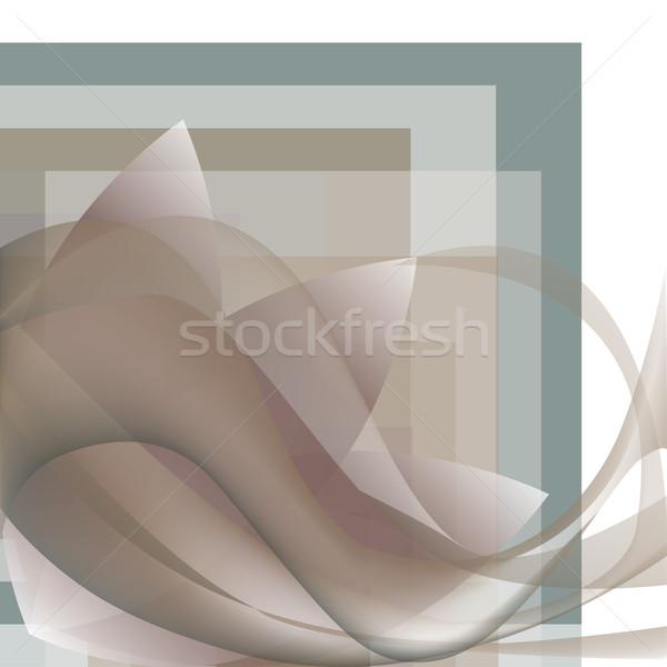 Coin modèle vagues fleur géométrique coloré Photo stock © cosveta
