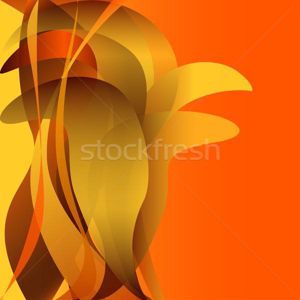Colorido ondas flor isolado abstrato amarelo Foto stock © cosveta