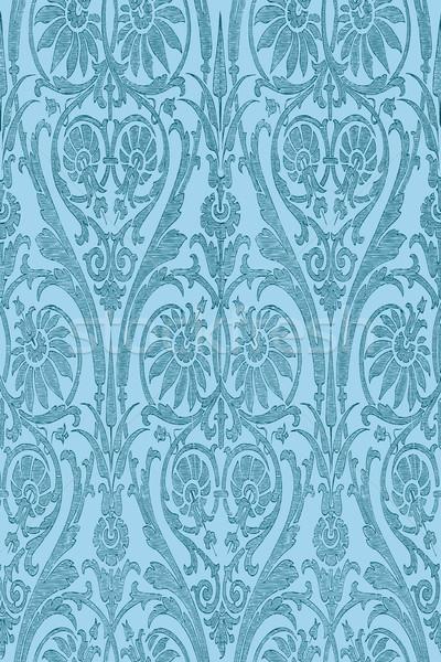 Dibujado a mano sin costura a rayas damasco vector invitaciones Foto stock © cosveta