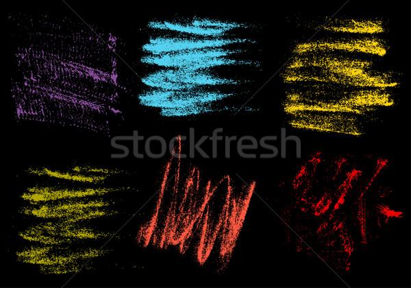 Vetor giz de cera mão desenho abstrato preto Foto stock © cosveta