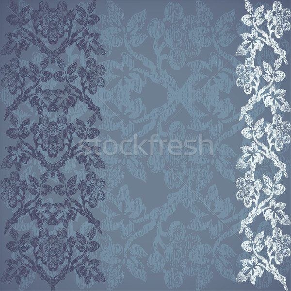 Stock photo: Background floral vertical stripe gold, vintage vector illustration for design