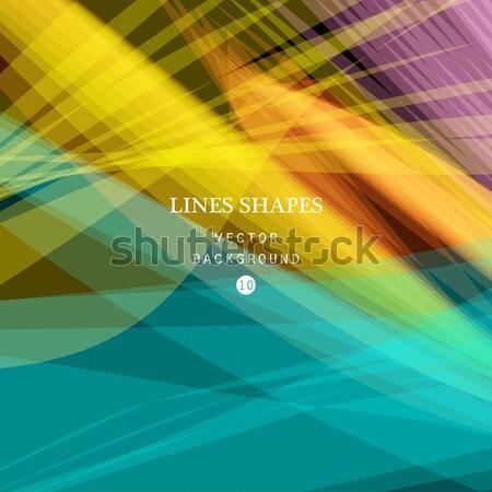 Kolorowy streszczenie wektora banner przezroczysty fali Zdjęcia stock © cosveta