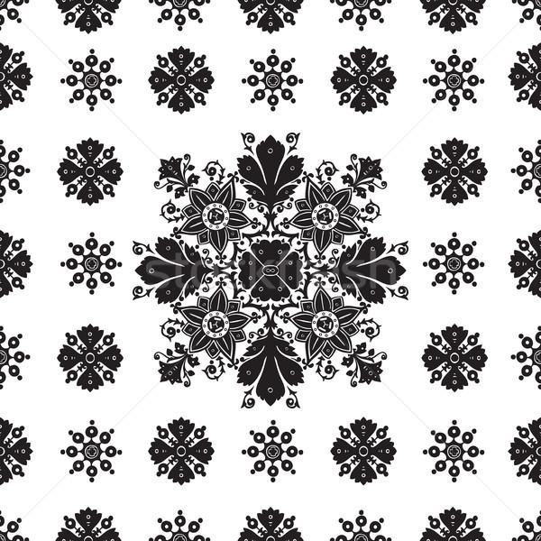 Streszczenie etnicznych bezszwowy kwiatowy wzór projektu Zdjęcia stock © cosveta
