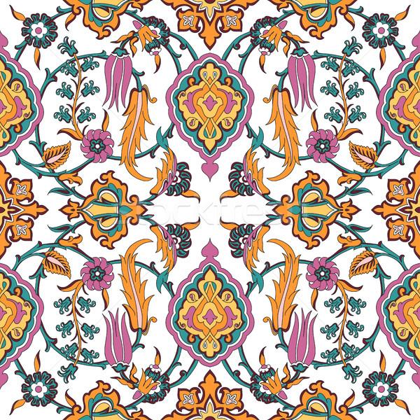 Vetor telha floral sem costura étnico Foto stock © cosveta