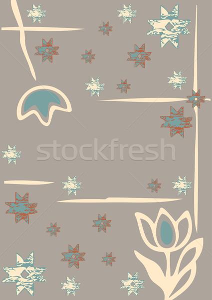 Flores inverno flocos de neve silhueta alegre teste padrão do natal Foto stock © cosveta