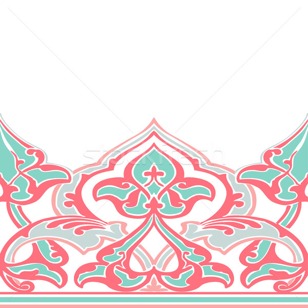 Vector ornate seamless border in Eastern style.  Stock photo © cosveta