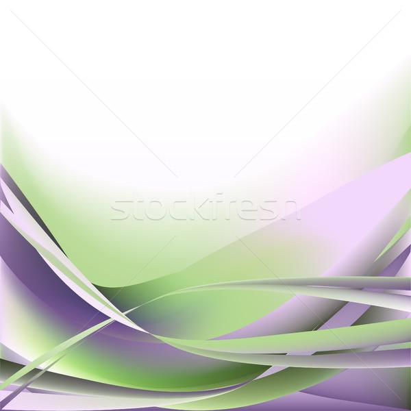 Kolorowy fale odizolowany streszczenie świetle biały Zdjęcia stock © cosveta