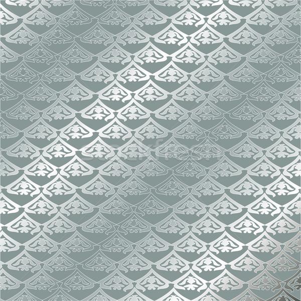 向量 復古 模式 無縫 銀 商業照片 © cosveta
