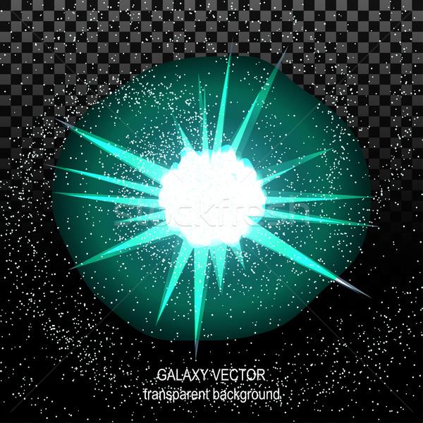 Star raggi bianco turchese spazio isolato Foto d'archivio © cosveta