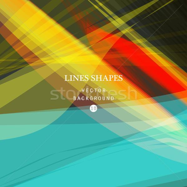 Jasne kolorowy nowoczesne pasiasty streszczenie wektora Zdjęcia stock © cosveta