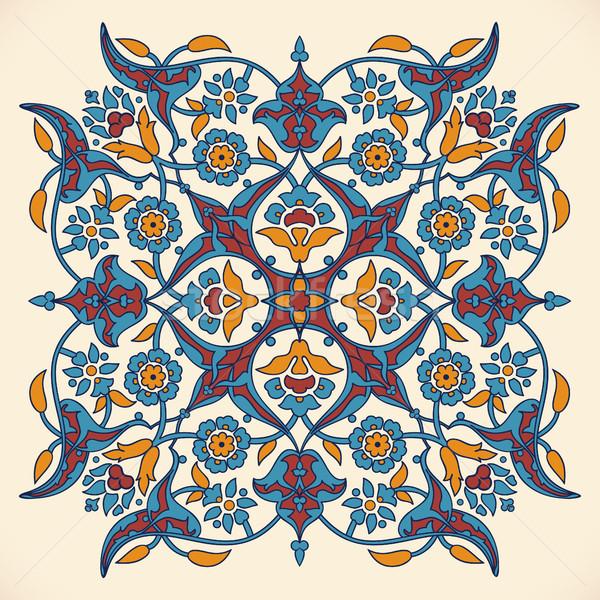 Arabesque vintage elegant floral decoration print for design tem Stock photo © cosveta