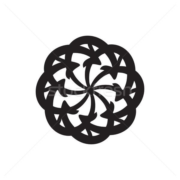 вектора цикл Стрелки круга диаграмма белый Сток-фото © cosveta