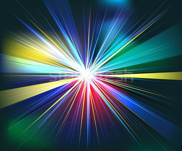 Colorful rays explosion futuristic technology vector Stock photo © cosveta
