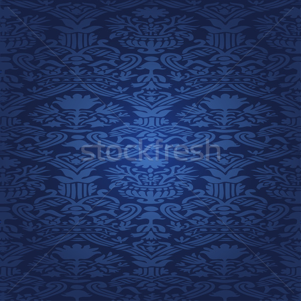 Azul sem costura abstrato floral padrão vintage Foto stock © cosveta