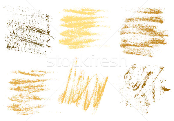 Vector gold charcoal hand drawing abstract on white background s Stock photo © cosveta