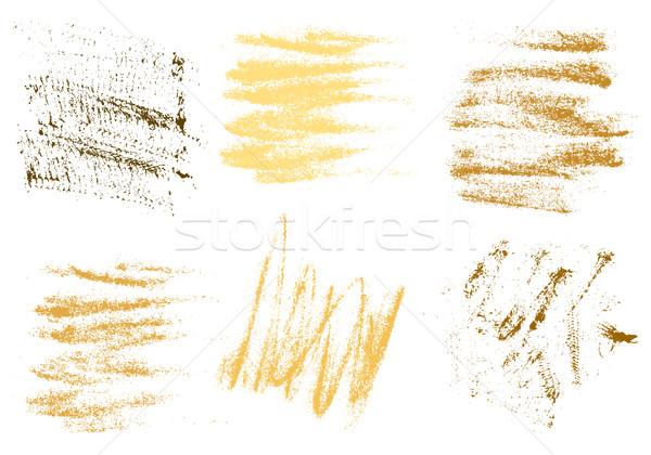 Vecteur or charbon main dessin résumé Photo stock © cosveta