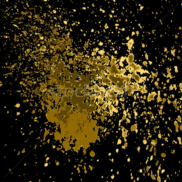 Vector goud verf splash splatter Stockfoto © cosveta