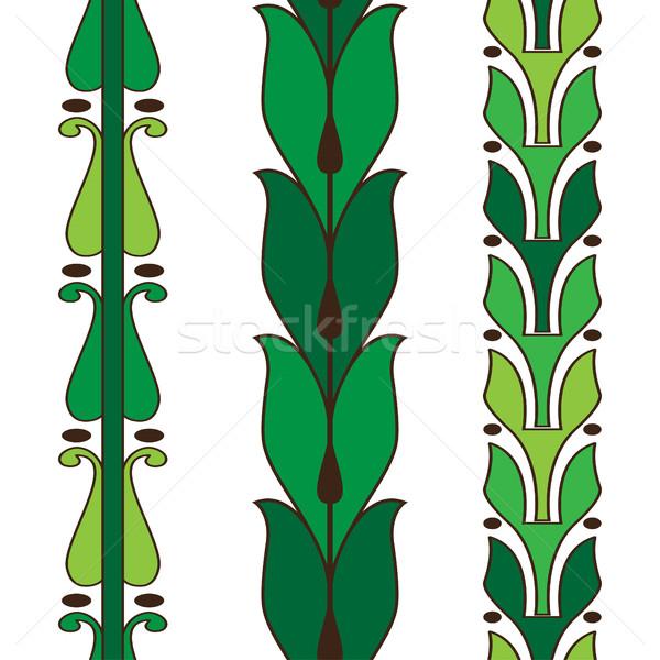 Stok fotoğraf: Bağbozumu · dekoratif · ayarlamak · yeşil · model