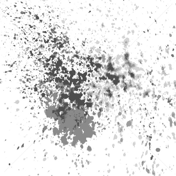 Vector silver paint splash, splatter, and blob shiny on white ba Stock photo © cosveta