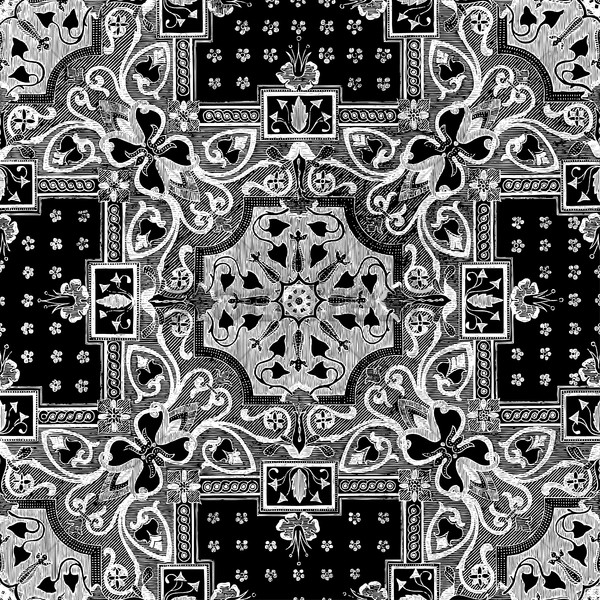 Foto stock: Resumen · blanco · floral · mosaico · azulejo · vintage