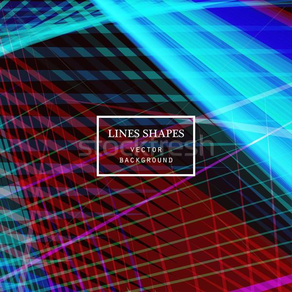 Modern technology striped abstract background vector Stock photo © cosveta
