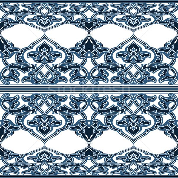 Vector sin costura floral patrón oriental Foto stock © cosveta