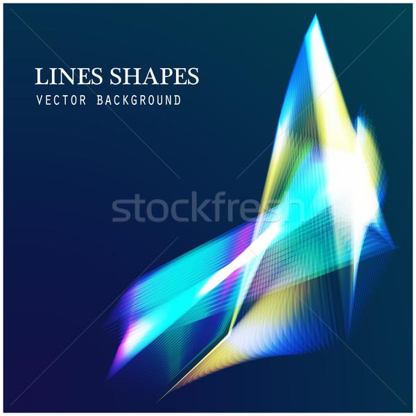 Linie świetle streszczenie niebieski ciemne Zdjęcia stock © cosveta