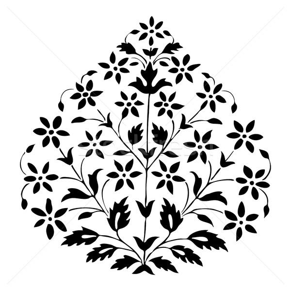 Symetryczny roślin kwiaty liści biały Zdjęcia stock © cosveta
