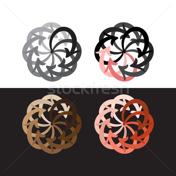 вектора набор красочный Стрелки круга диаграмма Сток-фото © cosveta