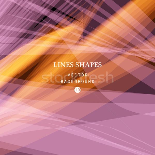 Lumineuses coloré modernes rayé résumé vecteur Photo stock © cosveta