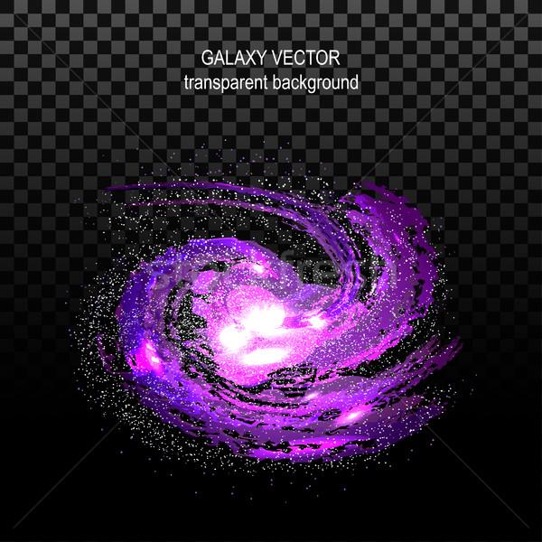 Obraz efekt tunelu spirali galaktyki Zdjęcia stock © cosveta