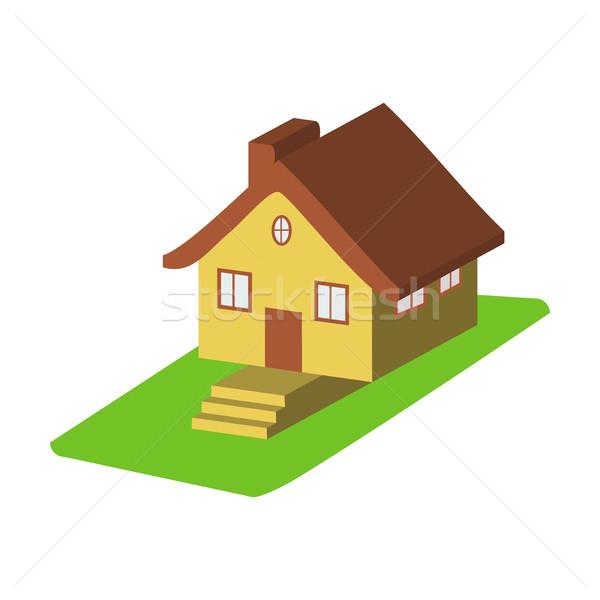 Colorido 3D casa Cartoon iconos aislado Foto stock © cosveta