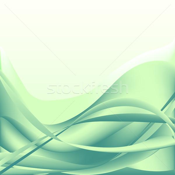 Photo stock: Coloré · vagues · isolé · résumé · turquoise · blanche