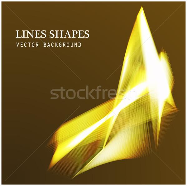 Linhas formas iluminação abstrato dourado escuro Foto stock © cosveta