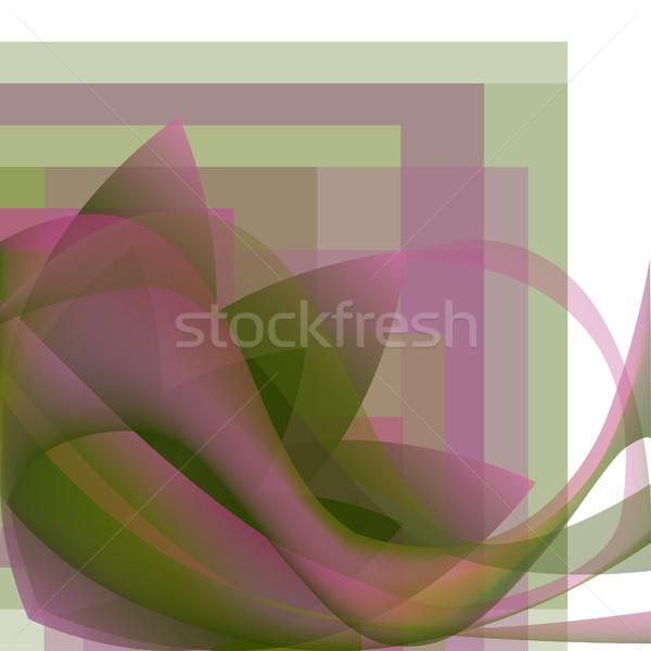 Kolorowy streszczenie kwiat fale placu gradient Zdjęcia stock © cosveta