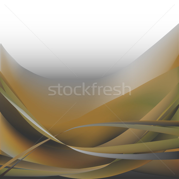 Colorful waves isolated abstract background khaki and white gray white Stock photo © cosveta
