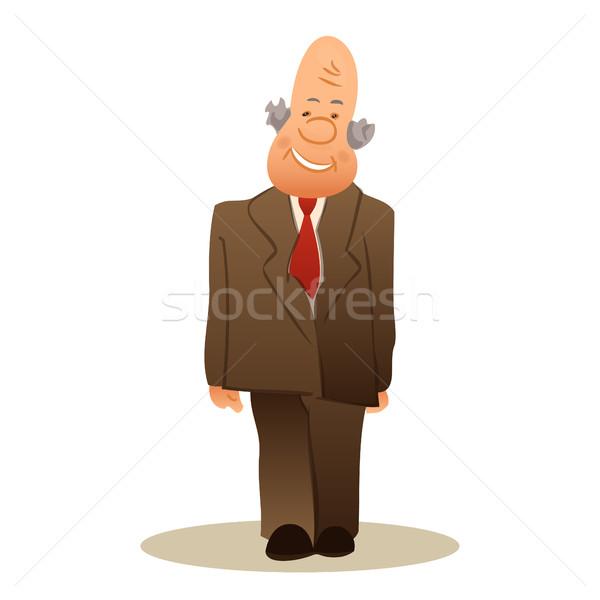 Engraçado velho negócio idoso homem sorridente Foto stock © cosveta