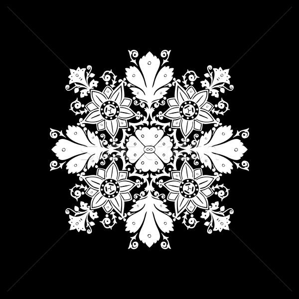 Etnicznych kwiaty bukiet ozdoba odizolowany wektora Zdjęcia stock © cosveta