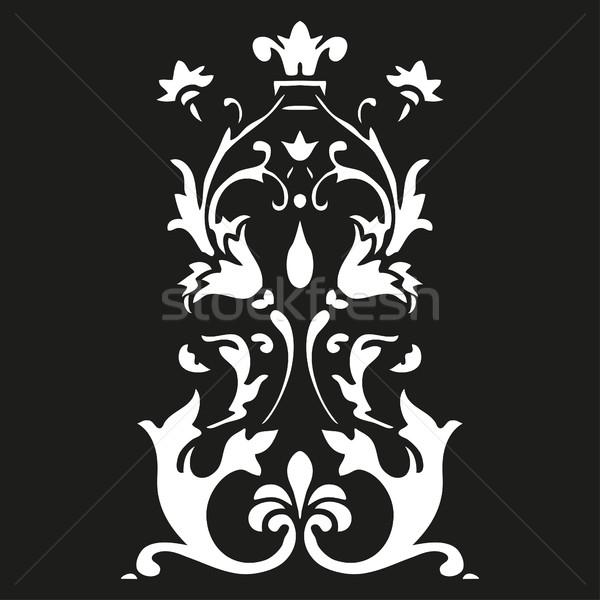 Vektör dikey kıvırcık siyah Stok fotoğraf © cosveta