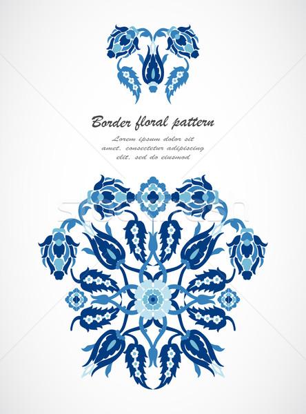 Vintage границе дамаст цветочный украшение Сток-фото © cosveta