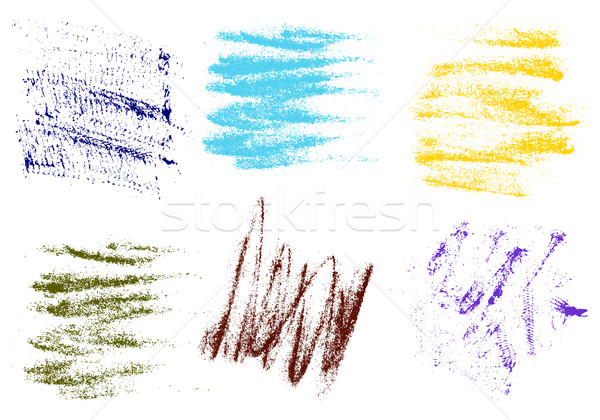 Vector crayons hand drawing abstract on white background set, ch Stock photo © cosveta