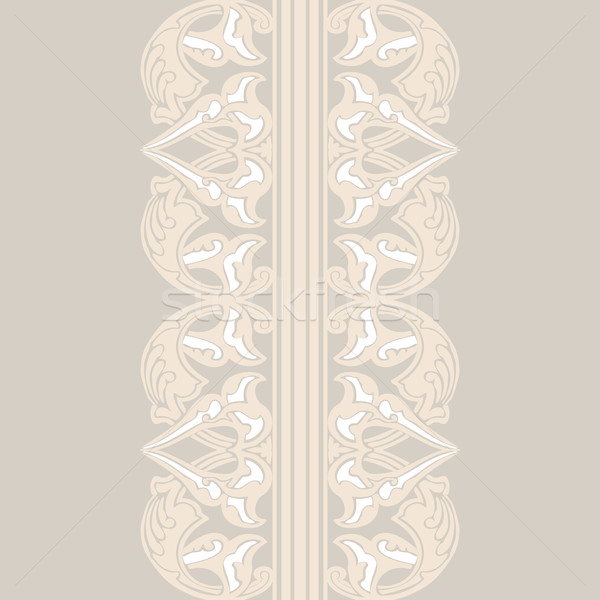 Stock photo: Vector ornate seamless border in Eastern style.