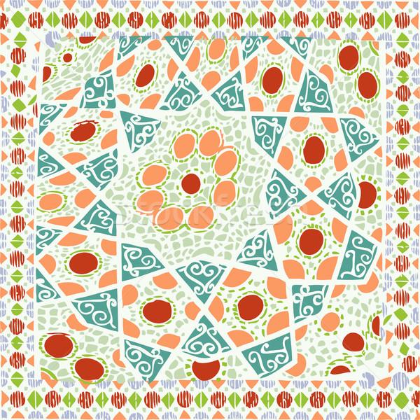 Padrão geométrico étnico colorido vetor abstrato moda Foto stock © cosveta
