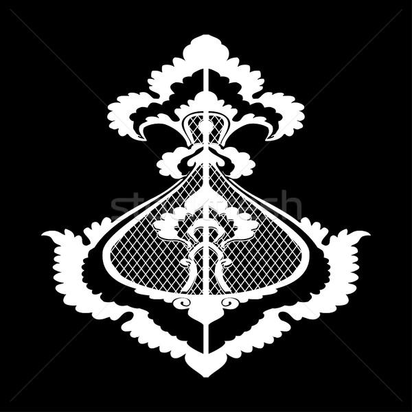 Ornamental vector flower silhouette pattern isolated background, arabesque  Stock photo © cosveta