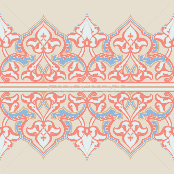 Vector ornate seamless floral pattern in Eastern style. Stock photo © cosveta