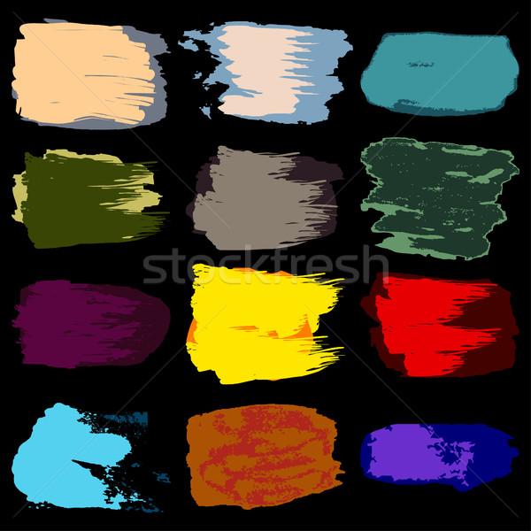 ベクトル ブラシ 染色 塗料 アクリル 手 ストックフォト © cosveta